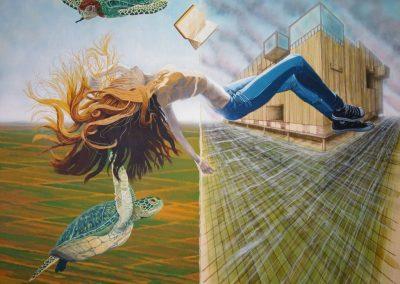 Soñando con tortugas y libro.