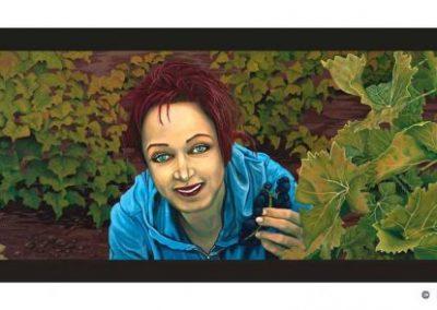Uvas, Viña y Mujer